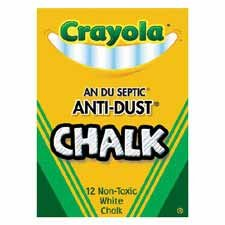 Chalkboard Chalk, Crayola, Anti-Dust, 12 Ct., White BIN501402 - Buy Chalkboard Chalk, Crayola, Anti-Dust, 12 Ct., White BIN501402 - Purchase Chalkboard Chalk, Crayola, Anti-Dust, 12 Ct., White BIN501402 (Binney & Smith, Office Products, Categories, Office & School Supplies, Presentation Supplies, Presentation & Display Boards, Chalkboards)
