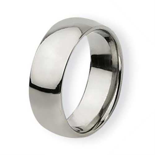 8MM High Polished Stainless Steel Wedding Band