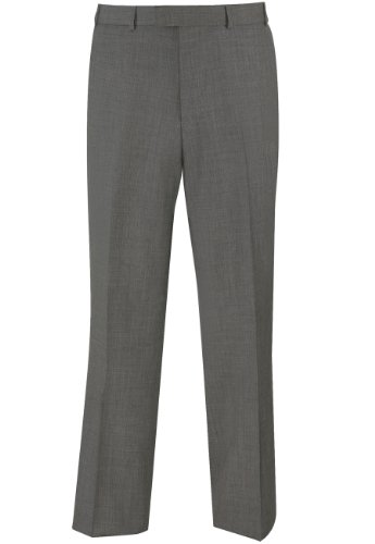 Brook Taverner Dawlish Suit Trouser in Grey Sharkskin 34S
