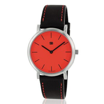 SOB1105 Ladies Steel Watch with Red dial