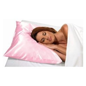 Satin Pillow Case, Standard Size, Pink.