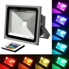 10W Rgb Flood Light - Tdltek 10W Rgb Color Changing Led Flood Light /Spotlight/Landscape Lamp/Outdoor Security Light With[ Memory Function], [Us 3 Prong Plug] And [Remote Controller]