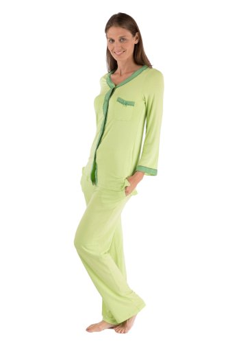 Womens Comfortable Pajamas Sleepwear Set Warm As Flannel Pajamas Wb0005-Lme-Xl front-933658