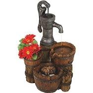 Water Pump Planter Fountain-WATERPUMP PLNTR FOUNTAIN