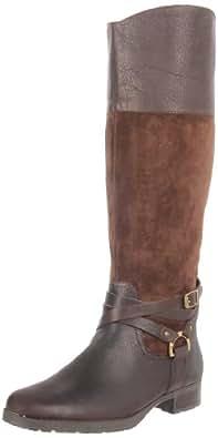 Lauren Ralph Lauren Women's Sonya Boot,Dark Brown/Dark Brown,5 B US