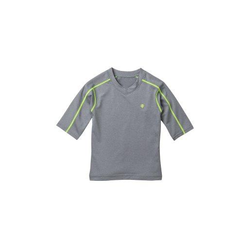 Coolibar Upf 50+ Kid'S Short-Sleeve Rash Guard Tee - Sun Protection (Youth X-Small - Grey Heather) front-268576