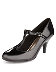 M&S Collection T-Bar Stiletto Court Shoes with Insolia®