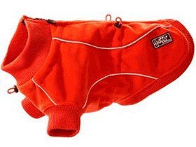 Hurtta Pet Collection Waterproof Fleece Jacket, 11-Inch Length, 10-12-Inch Neck, 17-Inch Chest, Red