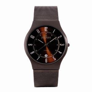 Skagen Men's SK233XLTMD Titanium Brown Espresso Dial Watch