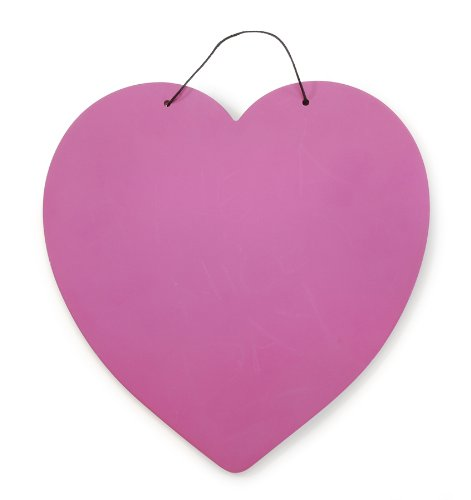 Darice Heart Shape Chalkboard Base, Assorted Colors