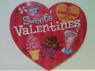 Peaceable Kingdom Sweets Valentines 30 student cards and 2 teacher cards with stickers!