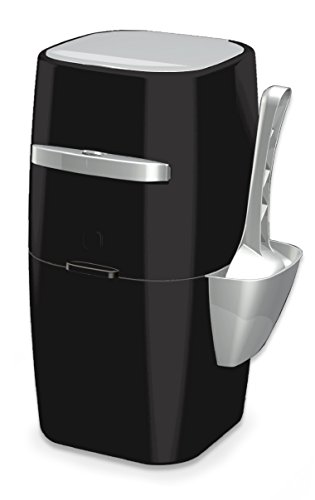 Litter Genie Plus Cat Litter Disposal System with Odor Free Pail System, Black