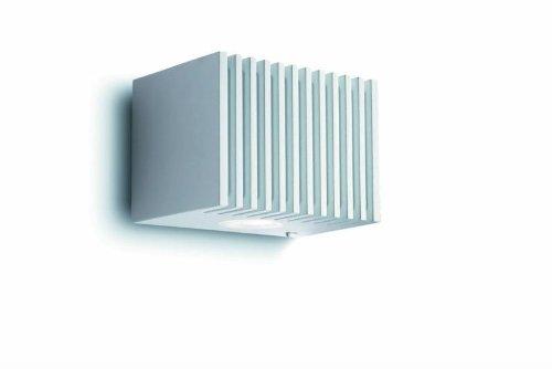 Philips Ledino 33603/31/16 Wandleuchte / 220-240V / 50-60Hz / weiss / Aluminium / 2 x 7,5 W / 3100K warm-weiss / dimmbar / Ein-/Ausschalter
