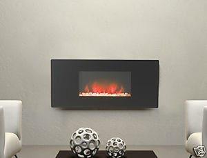Charlton Jenrick Flat Glass Wall Mounted & Hang On The Wall Led Electric Fire With Backlight       Customer reviews and more information