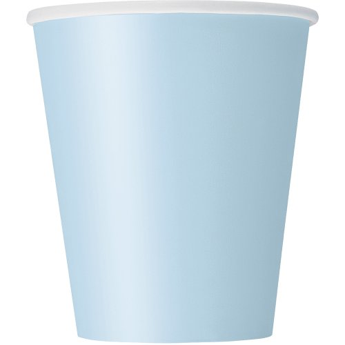 8 Count Paper Cup, 9-Ounce, Baby Blue
