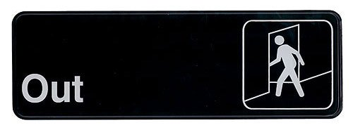 Update International S39-8Bk Sign Board, Out, White On Black