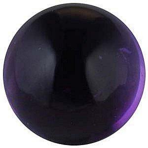 Cabochon Round Shape Genuine Amethyst Loose Gemstone, Quality Grade, AA 1.5 carats 7.00 mm