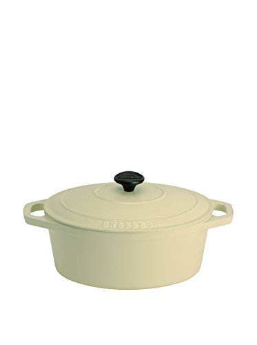Chasseur Classique Meringue 5.9-Qt. Cast Iron Oval French Oven