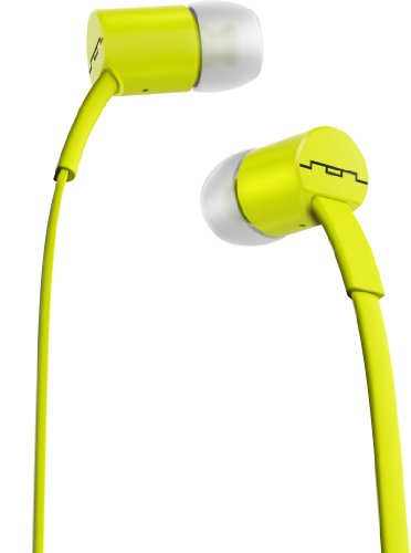Sol Republic 1112-30 Jax In-Ear Headphones With 1-Button Mic And Music Control - Lemon Lime