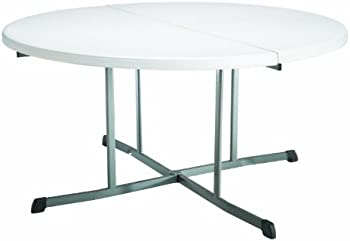 Lifetime 5 Feet Round Fold In Half Table