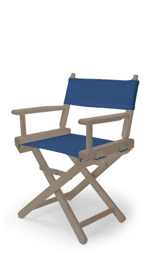 Telescope Casual Child'S Director Chair, Rustic Grey With Blue Canvas Fabric