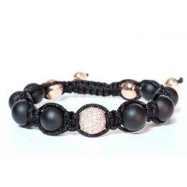 Tresor Paris Dauphine Diamond Set Black Agate Bracelet