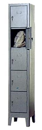 Armadio metallo acciaio portaborse 5 vani 35x50x182 cm monoblocco montato