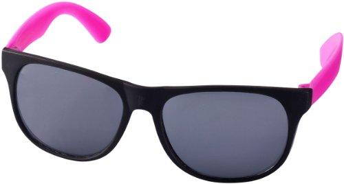 """Retro Sonnenbrille - UV 400 zertifiziert - Sonnenbrille im """"Nerdlook"""" (schwarz und pink)"""