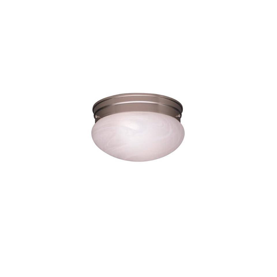 Kichler Lighting 8210NI 2 Light SemiFlush Flush Mount Ceiling Light, Brushed Nickel