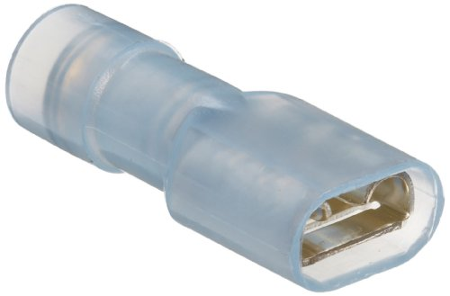 Morris Products 11976 Female Disconnect, Double Crimp, Nylon Fully Insulated, Blue, 16-14 Wire Size, 0.032