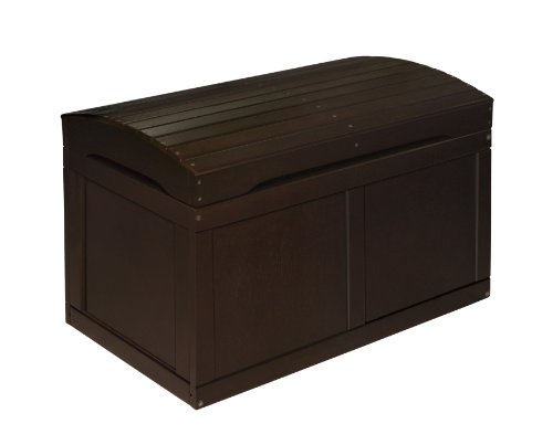 Imagen de Badger Basket Barrel Top Toy Box, Espresso