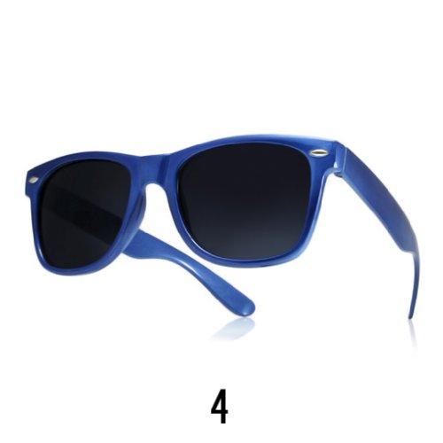 Sonnenbrille Nerdbrille retro Wayfarer Unisex Herren/Damen Sonnenbrille, UV-Schutz 400, Schildpatt Herren Sonnenbrille Spicoli 4 Shades, Tortoise Aussen, One size (4)