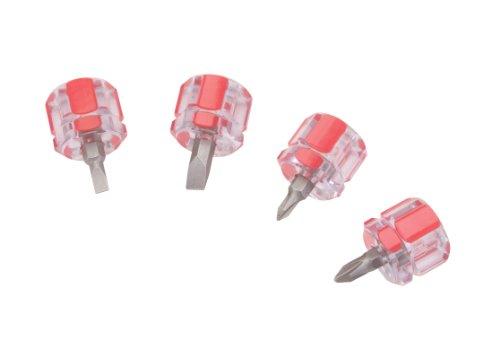 TEKTON 28071 Mini Stubby Pro Screwdriver Set, 4-Piece