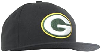 NFL Green Bay Packers Black and Team Color 59Fifty Fitted Cap by New Era
