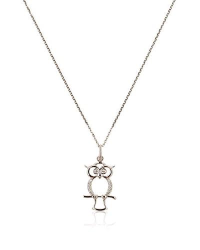 L'Instant d'Or Conjunto de cadena y colgante My Owl Oro Blanco