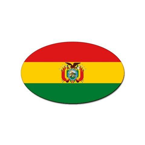 Bolivia Flag Oval Magnet (Bolivia Refrigerator compare prices)