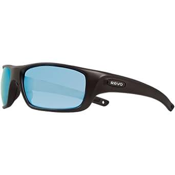 Buy Revo Unisex Guide II Nylon Sunglasses, Matte Black Blue Water Poly, One Size by Revo