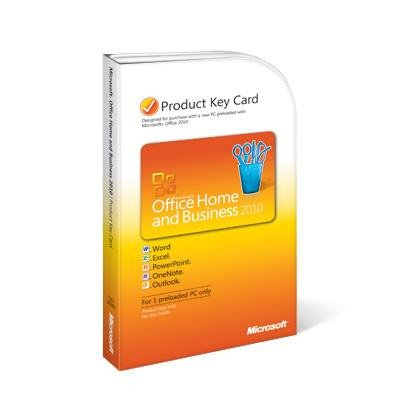 Microsoft T5D-00295 Office Home & Business 2010 Product Key Card (No Media) Software