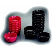 4.25 Deep Black Plastic Ashtray -- 12 per case