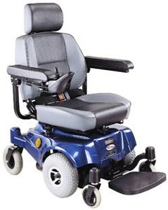 Compact Mid-Wheel Drive Power Chair, Blue