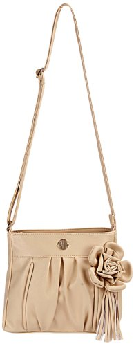 Lavie Calico Csb Flower Sling Bag (Beige) (beige\/sand\/tan)