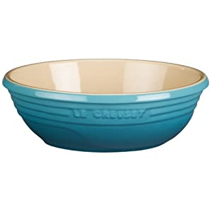 Le Creuset Stoneware Small 18-Ounce Oval Serving Bowl, Caribbean