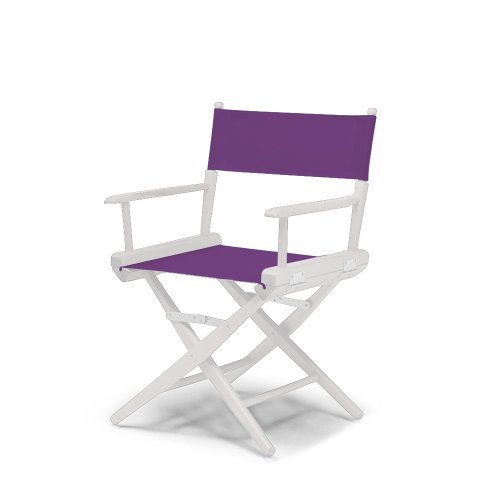 Telescope Casual World Famous Dining Height Director Chair, Purple With White Frame