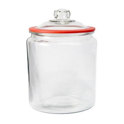 Anchor Hocking Heritage Hill Glass 2 Gallon Storage Jar with Red Silicone Gasket (Heritage Hill Glass Jar 2 Gallon compare prices)
