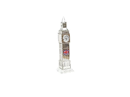 Ornament Londra Big Ben Tower Souvenir Regalo di natale in metallo colore argento 18cm by gr8vape