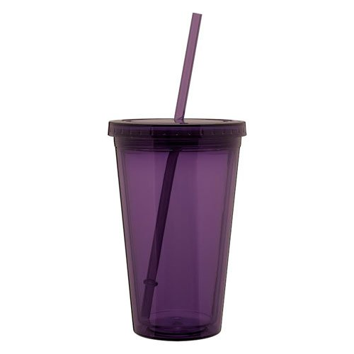 Eco To Go Cold Drink Tumbler - Double Wall -16Oz. Capacity - Eggplant Purple front-889810