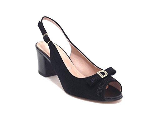 Donna Serena scarpe donna, modello 5991, sandalo in camoscio, colore nero