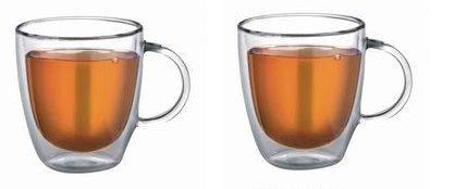 Doppelwandige Thermogläser für Kaffee auch als Teeglas geeignet! 2 x 250 ml