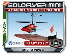 SoloFlyer Micro Electric RC Helicopter 2.4Ghz, In Aluminum Case! BRAND NEW!