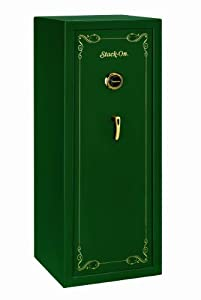 Stack-On SS-16-MG-C 16 Gun Security Safe with Combination Lock, Matte Hunter Green by STACK-ON